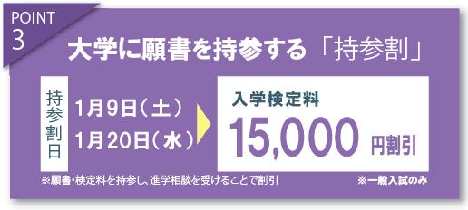 持参割で15000円割引き