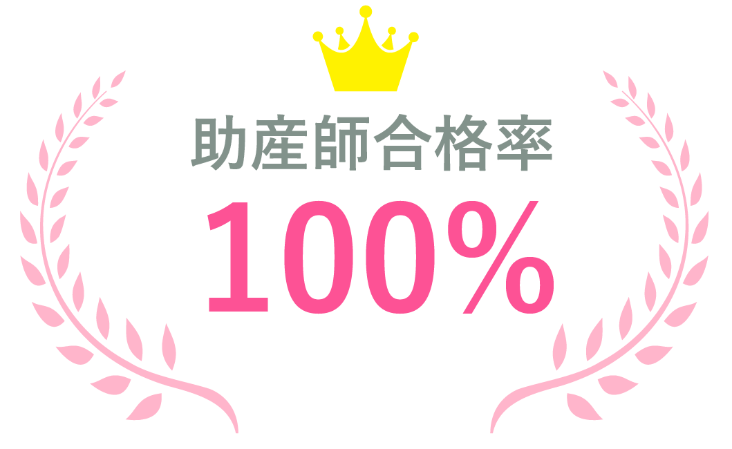 資格合格率 看護師97.5% 保健師100% 助産師100%
