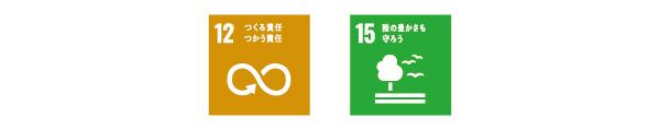 SDGs 12つくる責任つかう責任 15陸の豊かさも守ろう